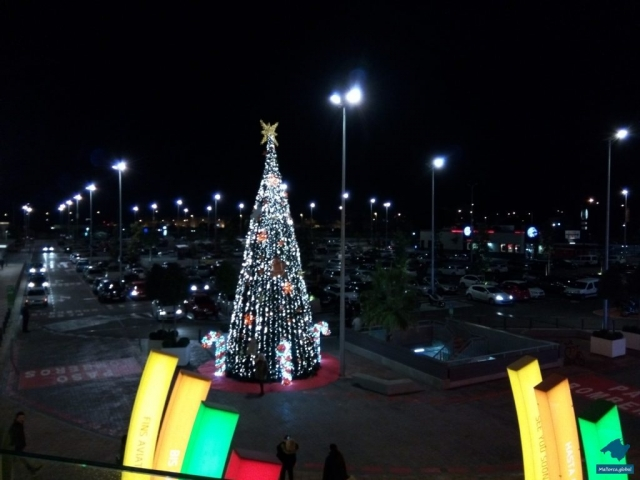 Weihnachtsbaum am Fan Einkaufszentrum
