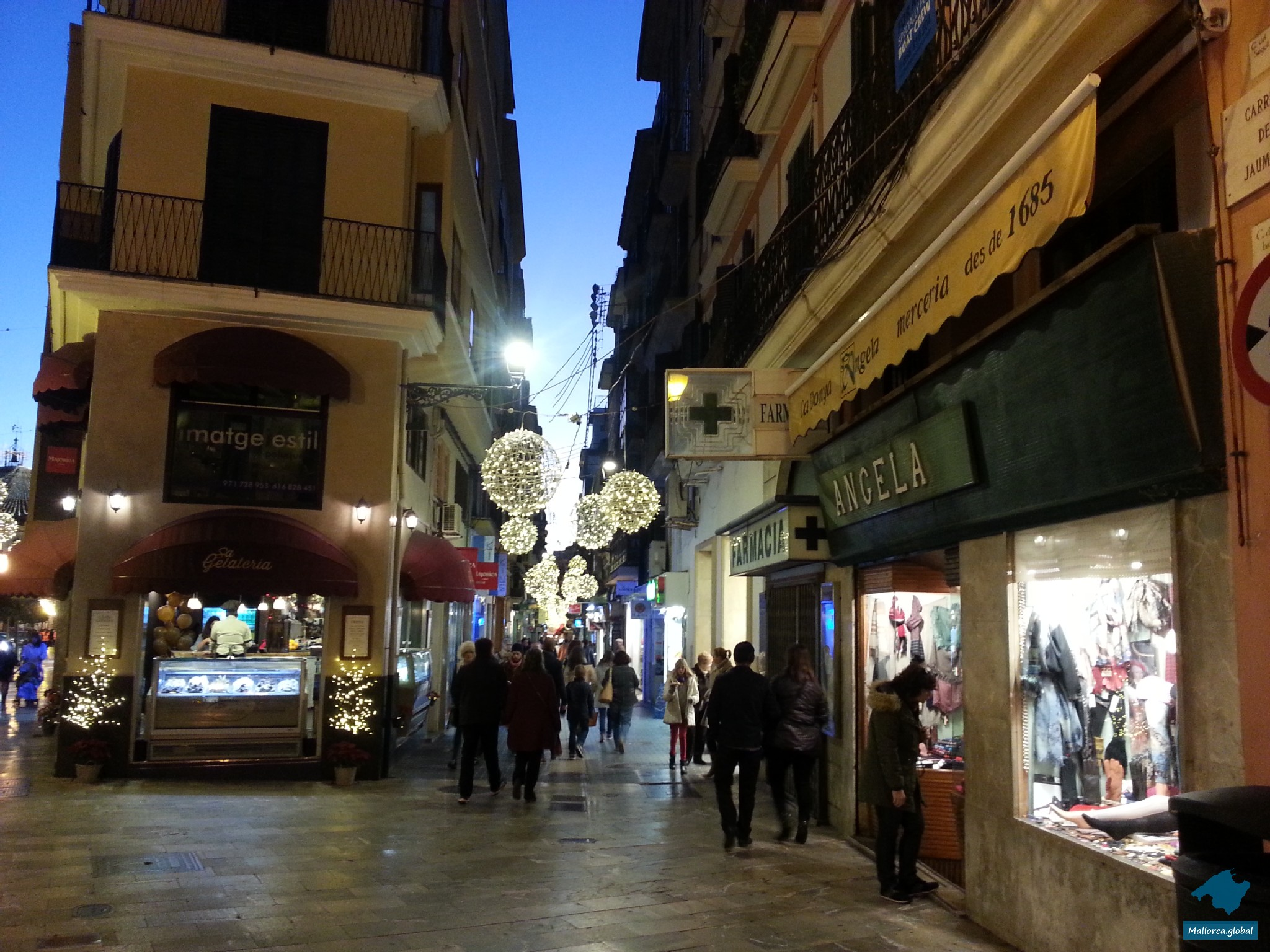 Altstadt Palma Weihnachten