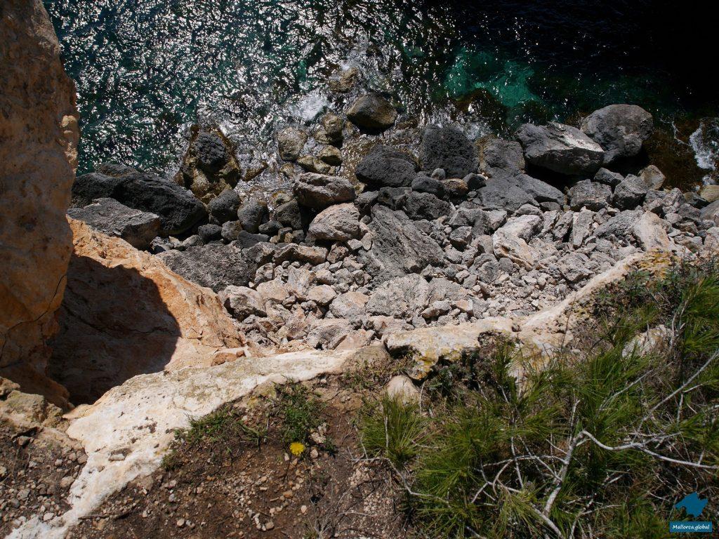 Cala Santanyi Abhang Steilküste