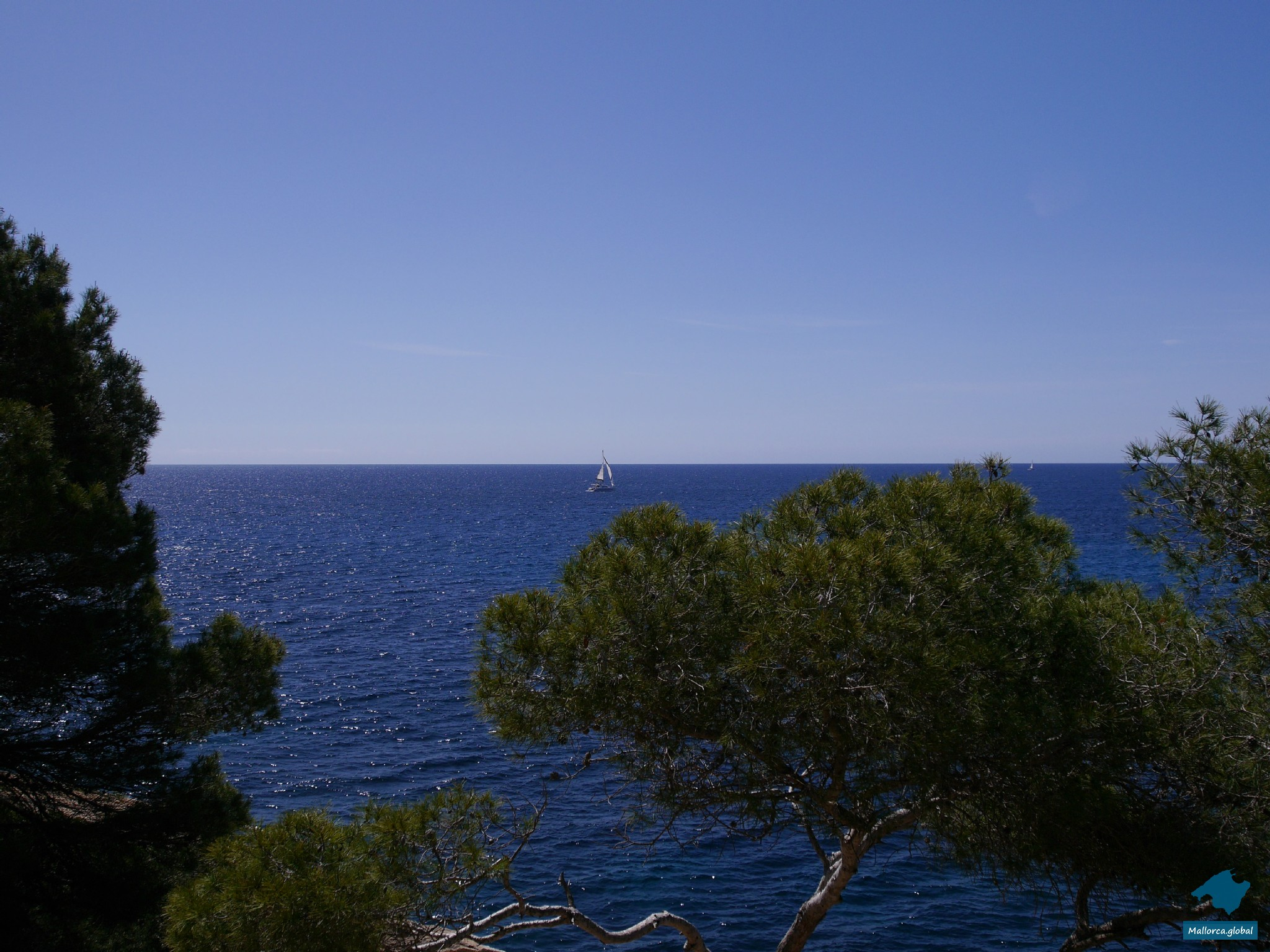 Cala Santanyi Segelschiff Mallorca