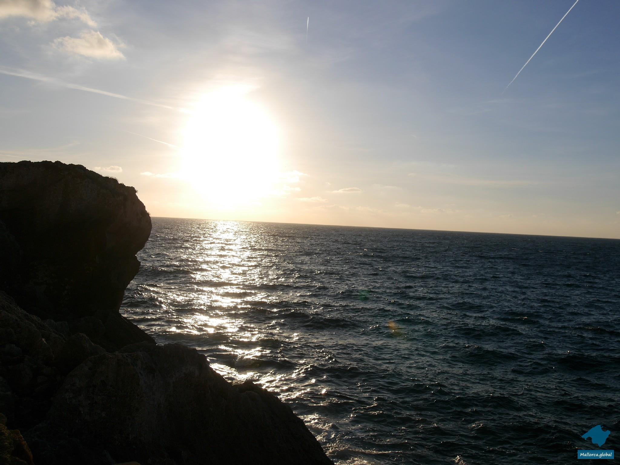 Sonnenuntergang Steilküste Mallorca