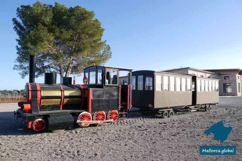 Zug der Bodegas Vi Rei im Besucherzentrum
